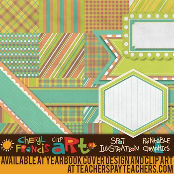 "Digital Paper Pack ""A"" with Ribbons & Frames"