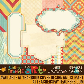 """Digital Paper Pack """"A2"""" with Frames"""