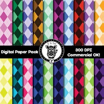 Digital Paper Pack - Argyle 1 - ZisforZebra