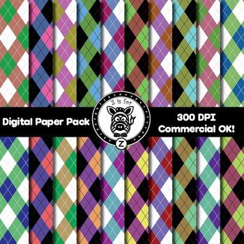 Digital Paper Pack - Argyle 2 - ZisforZebra