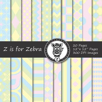 Digital Paper Pack Baby colors 1- CU ok { ZisforZebra}