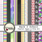 Digital Paper Pack Back to School Papers