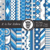 Digital Paper Pack Blue colors 1- CU ok { ZisforZebra}