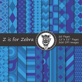 Digital Paper Pack Blue colors 2- CU ok { ZisforZebra}
