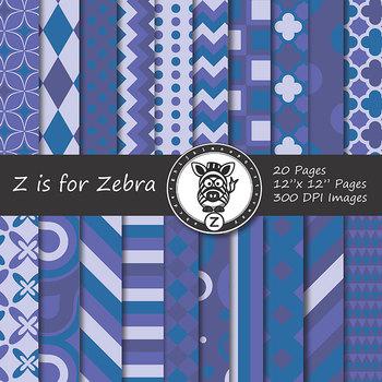 Digital Paper Pack Blue colors 3- CU ok { ZisforZebra}