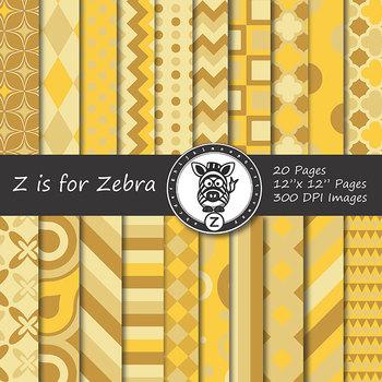 Digital Paper Pack Gold 1- CU ok { ZisforZebra}