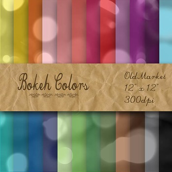 Digital Paper Pack - Bokeh - 24 Different Papers - 12 x 12