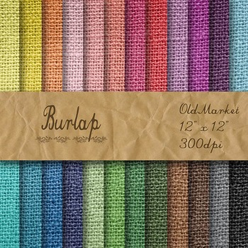 Digital Paper Pack - Burlap Textures - 24 Different Papers