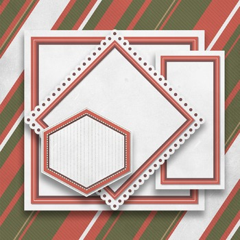 """Digital Paper Pack """"C"""" with Ribbons & Frames"""