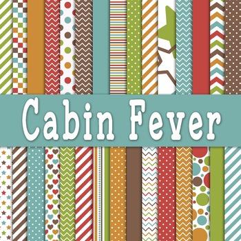 Digital Paper Pack - Cabin Fever Digital Backgrounds - 30
