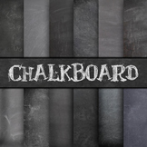Digital Paper Pack - Chalkboard Backgrounds - 12 Different Papers - 12 x 12