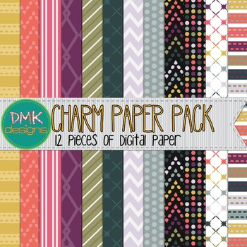 Digital Paper Pack- Charm