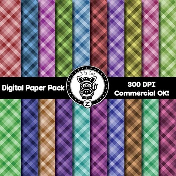 Digital Paper Pack - Checkered 2- ZisforZebra