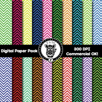 Digital Paper Pack - Chevron 4 - ZisforZebra