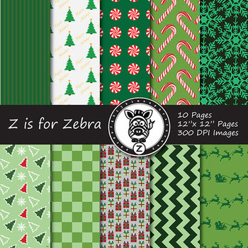 Digital Paper Pack Christmas 3 - CU ok { ZisforZebra}
