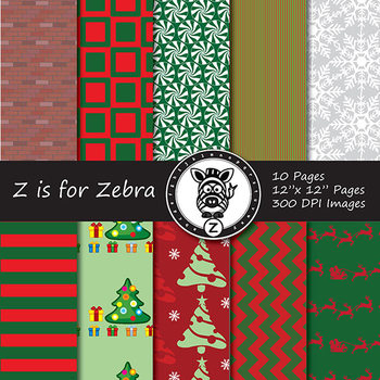 Digital Paper Pack Christmas 4 - CU ok { ZisforZebra}