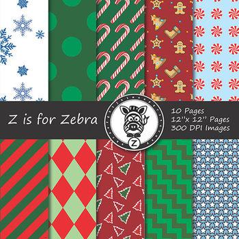 Digital Paper Pack Christmas 5 - CU ok { ZisforZebra}