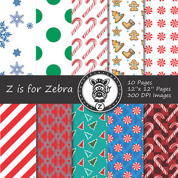 Digital Paper Pack Christmas 6 - CU ok { ZisforZebra}