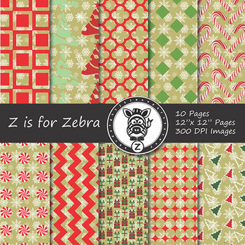 Digital Paper Pack Christmas 8 - CU ok { ZisforZebra}