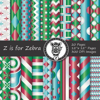 Digital Paper Pack Christmas gradient 2- CU ok { ZisforZebra}