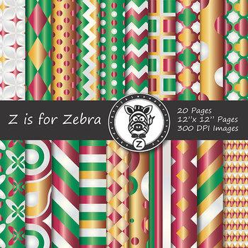 Digital Paper Pack Christmas gradient 3- CU ok { ZisforZebra}