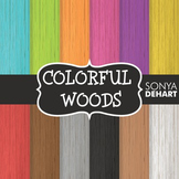 Digital Papers - Colorful Woods