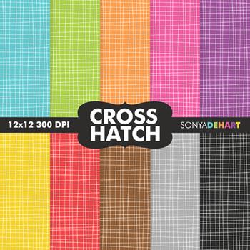 Digital Papers - Crosshatch