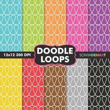 Digital Papers - Doodle Loops