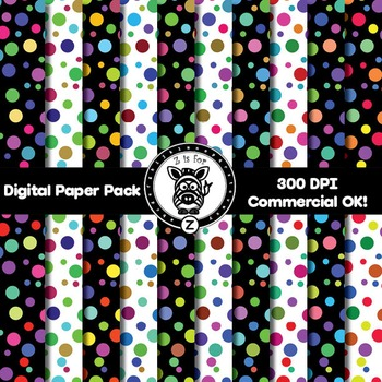 Digital Paper Pack - Dots 2- ZisforZebra