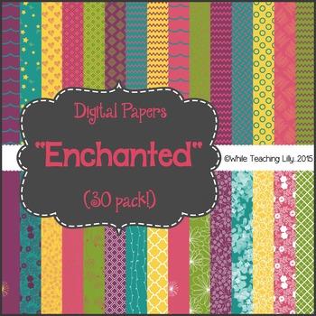 """*FLASH-FREEBIE* Digital Paper Pack """"Enchanted"""""""