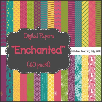 "*FLASH-FREEBIE* Digital Paper Pack ""Enchanted"""