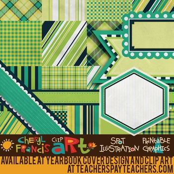 """Digital Paper Pack """"F"""" with Ribbons & Frames"""
