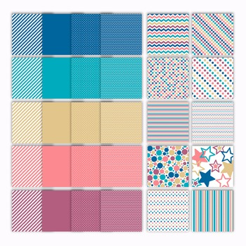 Digital Paper Pack - Fire and Ice Colors Collection - 30 Papers - 12 x 12