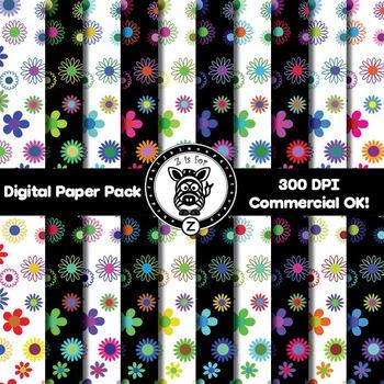 Digital Paper Pack - Floral 2 - ZisforZebra
