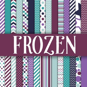 Digital Paper Pack - Frozen Colors Collection - 30 Papers - 12 x 12