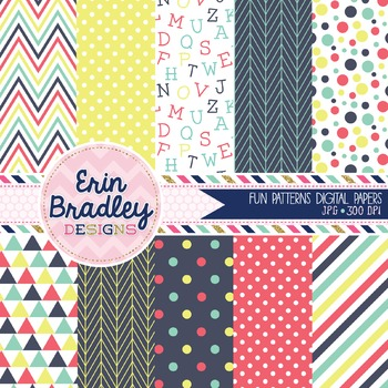 Digital Paper Pack - Fun Collection