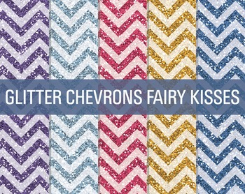 Digital Papers - Glitter Chevron Patterns Fairy Kisses