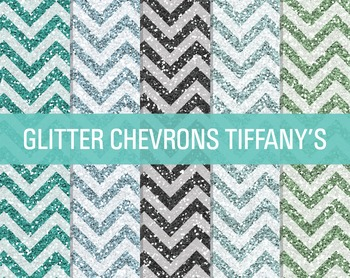 Digital Papers - Glitter Chevron Patterns Tiffany's
