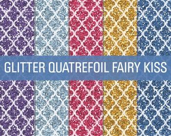 Digital Papers - Glitter Quatrefoil Patterns Fairy Kisses