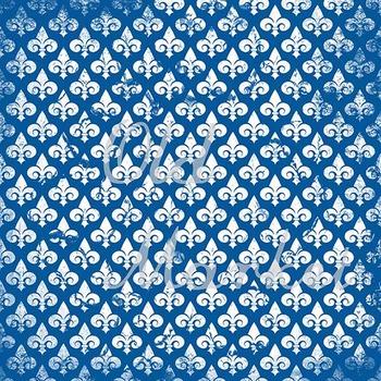 Digital Paper Pack - Grunge Fleur De Lis - 24 Different Papers - 12 x 12