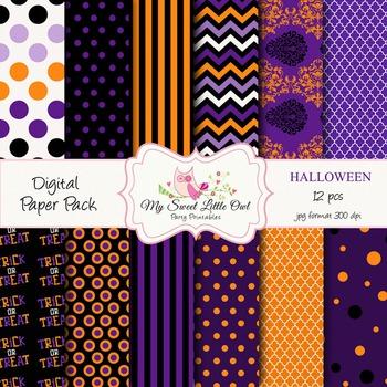 Digital Paper Pack - Halloween paper background