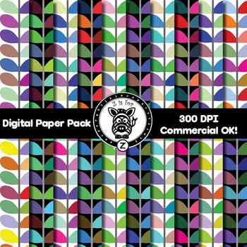 Digital Paper Pack - Leaf 1- ZisforZebra