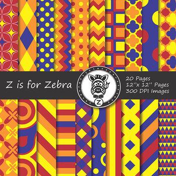 Digital Paper Pack Multicolored 1 - CU ok { ZisforZebra}
