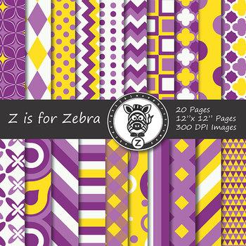Digital Paper Pack Multicolored 12 - CU ok { ZisforZebra}