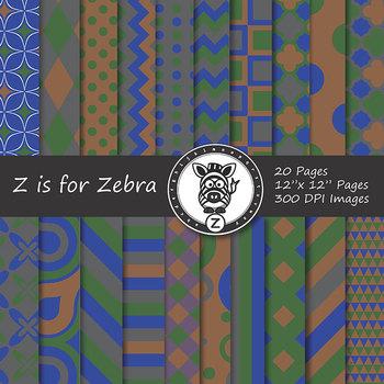 Digital Paper Pack Multicolored 2 - CU ok { ZisforZebra}