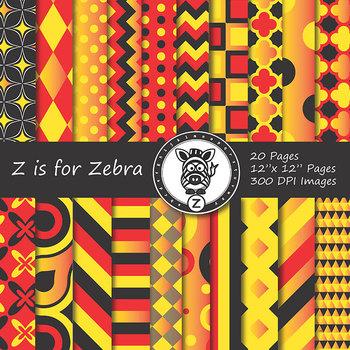 Digital Paper Pack Multicolored 6 - CU ok { ZisforZebra}