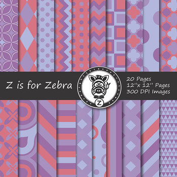 Digital Paper Pack Multicolored 8 - CU ok { ZisforZebra}