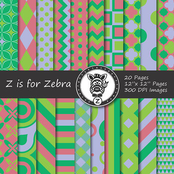 Digital Paper Pack Multicolored 9 - CU ok { ZisforZebra}