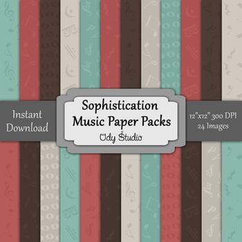 Digital Paper Pack- Music Sophistication