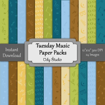 Digital Paper Pack- Music-Tuesday